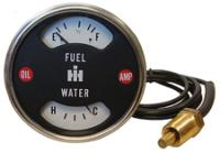 Cluster - Water and Fuel Gauge - Farmall 1026, 1206, 1256, 1456D, 544, 656, 706, 756, 806, 826, 856, 1466, 4186