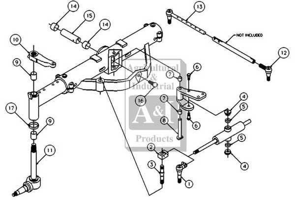 International Front Axle Diagram on Case Ih Tractors Parts Diagram