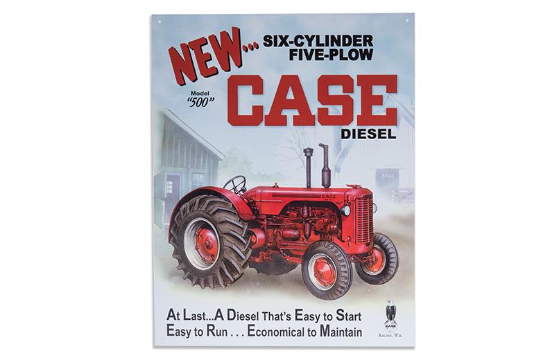 Case Diesel metal sign