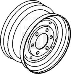 Rim, Front Wheel 4.5 X 16
