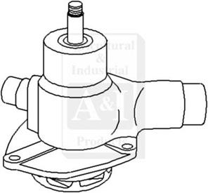 Re-Mfg. Water Pump w/o Pulley (R&R)