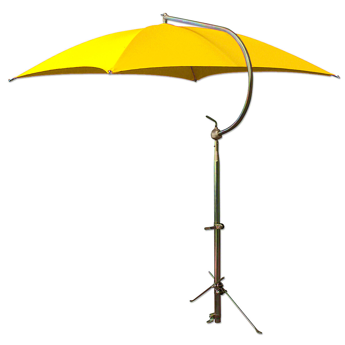 Deluxe Yellow Tractor Umbrella With Mounting Brackets.