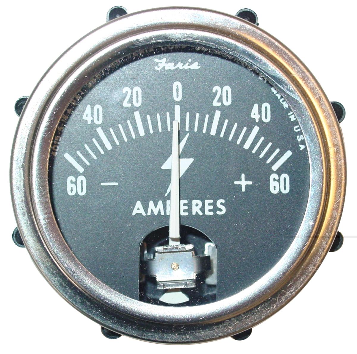 AMMETER (AMP) GAUGE, 60-0-60