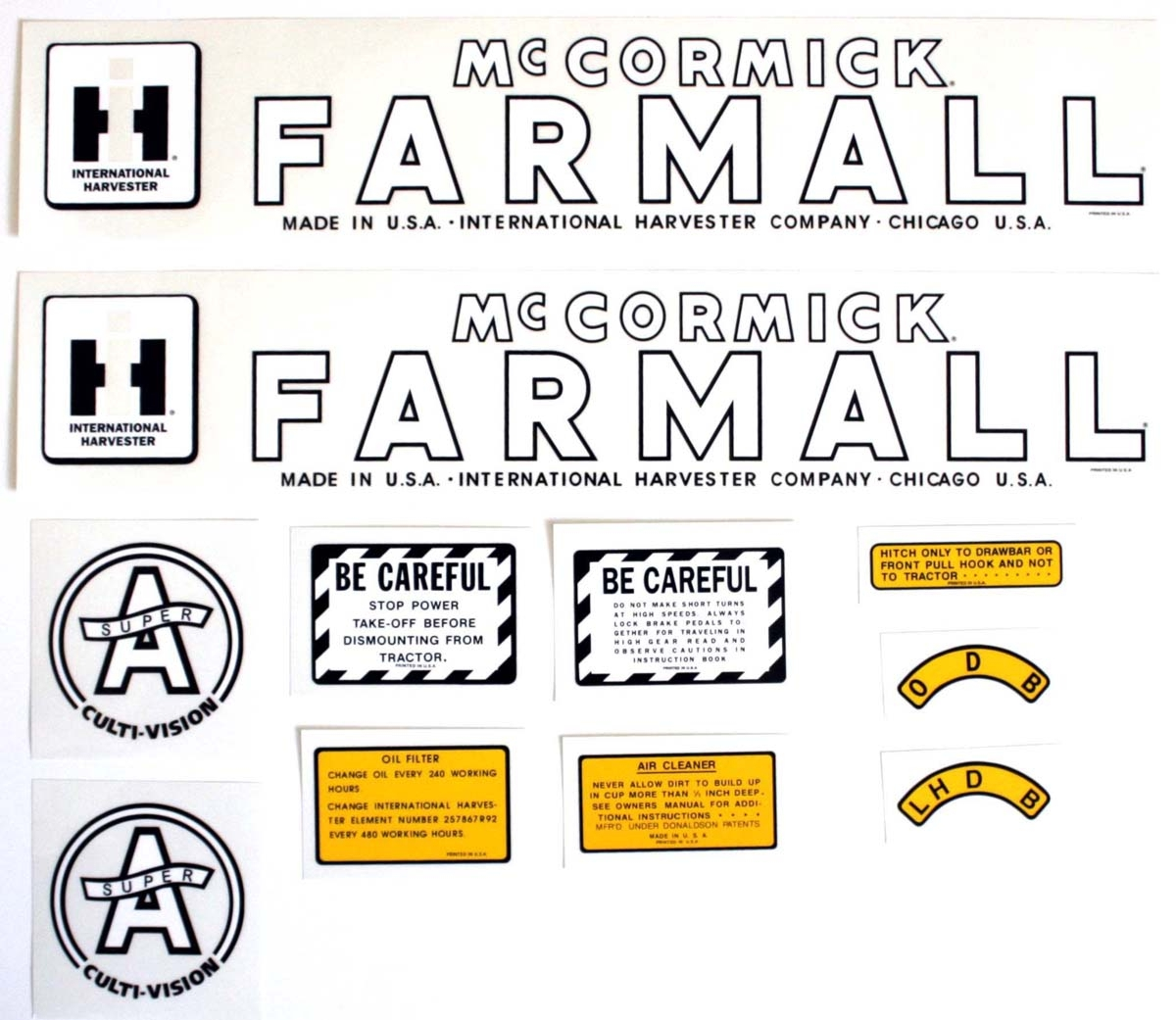 Case Tractor Stickers : Mylar decal set case ih parts tractor