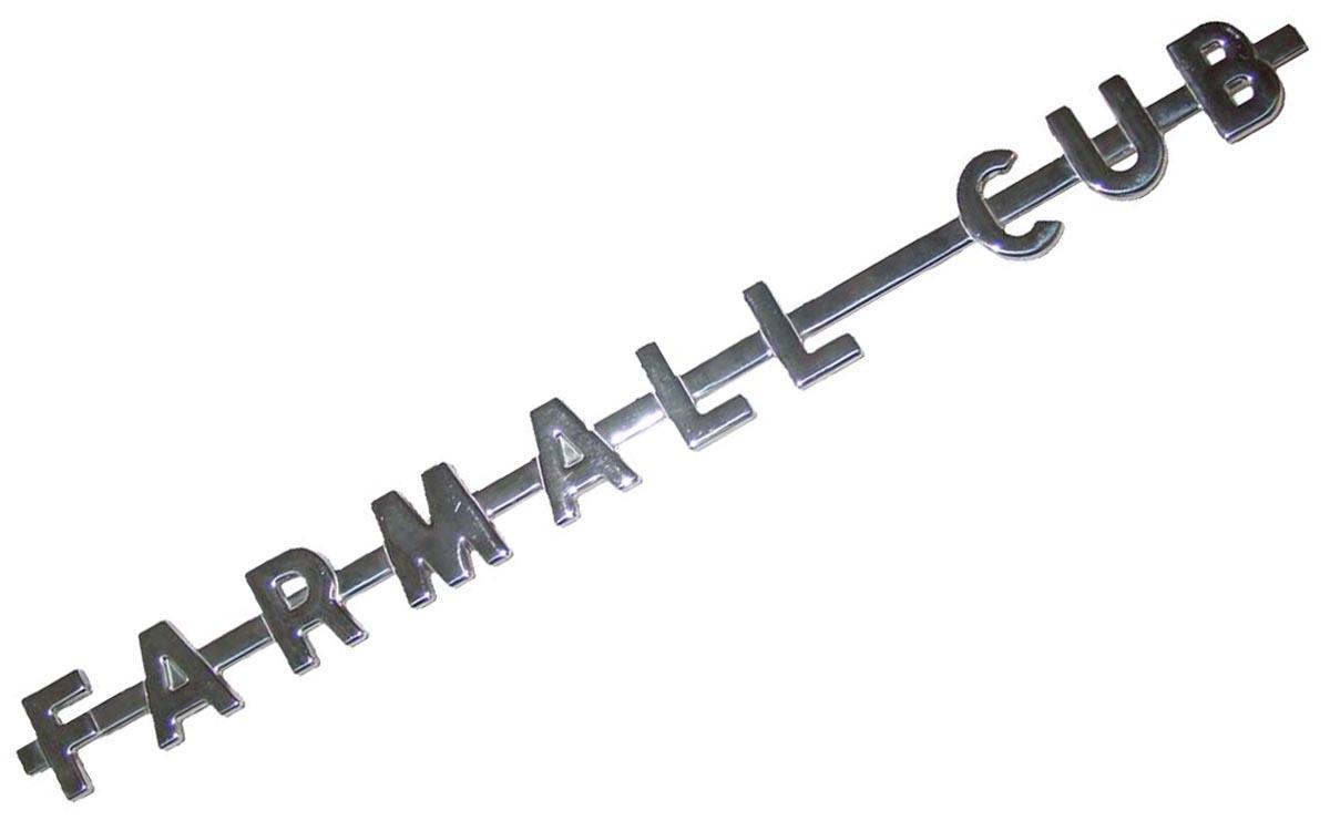 Farmall cub SIDE EMBLEM