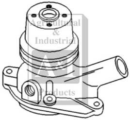Water Pump, w/ Pulley