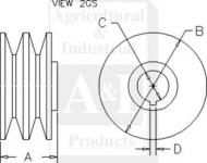 Pulley, Alternator (Double)