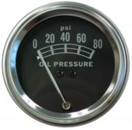 UNIVERSAL OIL PRESSURE GAUGE (0 - 80 LB) 