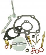 """COMPLETE CARBURETOR REPAIR KIT (IH CARB)   KIT CONTAINS: CHOKE & THROTTLE SHAFTS, NEEDLE & SEAT VALVE, FLOAT LEVER PIN, MISCELLANEOUS PLUGS & SCREWS, THROTTLE SHAFT SEALS & GASKETS FITS LISTED CARB WITH THROTTLE BODY: 8867DX SHAFT LENGTH = 3.314\""""\""""   CHOKE AND THROTTLE SHAFT GASKETS, NEEDLE VALV   Carburetor Manufacturer #: 50983   International Applications: M, MV, 6 SERIES"""