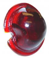 """RED GLASS TAIL LIGHT LENS  2-1/8"""" O.D., GLASS, RED  International Applications: CUB, CUB LOBOY, A, AV, SUPER A, SUPER A1, SUPER AV, SUPER AV1, C, SUPER C, H, HV, SUPER H, SUPER HV, M, SUPER M, MD, SUPER MD, MV, MDV, SUPER MV, SUPER MDV, I4, I6, I9, ID6, ID9, O4, OS-4, O6, OS-6, ODS-6, W4, W6, WD6, W9, WD-9, WR-9, WDR-9, WR-9S  Replacement Part #: IH 354308R1"""
