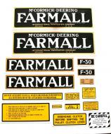 MYLAR DECAL SET  CAUTION: INSPECT ALL DECAL PIECES BEFORE APPLYING TO TRACTOR. NO REFUNDS ON MYLAR DECALS IF APPLIED TO SURFACE AND / OR IF DAMAGED. NO REFUNDS ON VINYL CUT DECALS. STORE IN A COOL, DRY PLACE. DO NOT SOAK IN WATER. DETAILED APPLICATION INSTRUCTIONS ARE I  International Applications: FARMALL F30