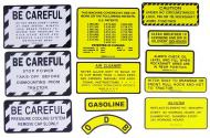 MYLAR MISC DECAL SET -- 12 PIECES 