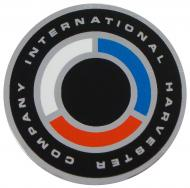 """STEERING WHEEL CAP (DECAL) INSERT  MADE IN USA  CHROME / RED / BLUE / WHITE  SAYS """"""""INTERNATIONAL HARVESTER COMPANY"""""""" IN A RING  International Applications: LATE 140, 240, 340, 300, 330, 400, 404, 504, 424, 444, 350, 450, 460, 560, 660, 3414, 4100, 4156, 4166, 4186, 3088, 7488, 684, 584, 484, 884, 186 HYDRO, 100 HYDRO, 86 HYDRO, 84 HYDRO, 574, 674, 766, 966, 1066, 1466, 4166, 4186, 4386, 4366, 4568, 4586 (SN"""