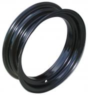 """FRONT WHEEL (BLANK CENTER)  ELECTRO-COATED BLACK, NO LOOPS  4.25"""" X 16""""  USA MADE.  International Applications: H, M, MD, W4, I4, O4, W6, I6, ID6, O6, WD6, WILL ALSO FIT F12, F14 WHEN EQUIPPED WITH A 16"""" BLANK RIM  Replacement Part #: IH: 354223R1, 354244R91"""