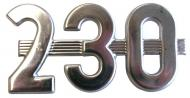 "SIDE EMBLEM ""230"" 