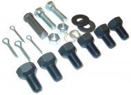 SWINGING DRAWBAR HARDWARE KIT  KIT INCLUDES:  6- #351679R1 DRAWBAR BOLTS  2- #103419 COTTER PINS  2- #220068 HEX NUTS  2- #179887 HEX HD CAP SCREWS  2- #103323 LOCK WASHERS  2- #106265 FLAT WASHERS  1- #103408 COTTER PIN  1- #Q3558 PIN  --  International Applications: CUB