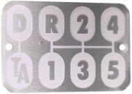 "TRANSMISSION SHIFT PATTERN PLATE   HELD ON W/ 2 RIVETS: 1/16"" DIA X 3/16"" LONG - MUSHROOM HEAD ALUMINUM RIVETS   International Applications: WITH TORQUE AMPLIFIER (TA): 340, 460, 504, 560, 606, 660, 2504, 2606   Replacement Part #: IH: 371371R1"