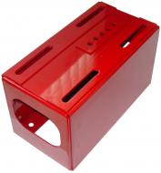 TOOL BOX & SEAT SUPPORT  POWDER COATED RED  BOX FOR FASTHITCH IS AVAILABLE SPECIAL ORDER  International Applications: C, SUPER C W/O REMOTE OR FAST HITCH  Replacement Part #: 352086R91, 359572R92