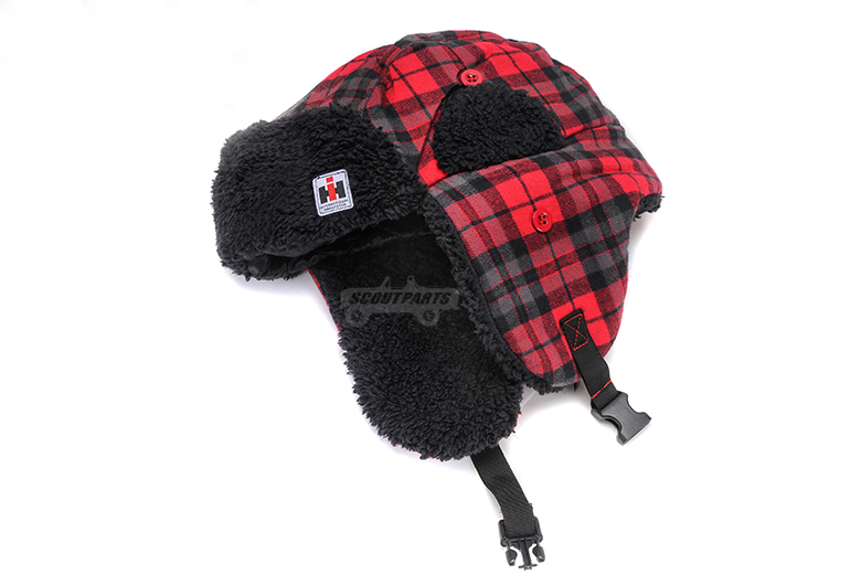 Red Buffalo Plaid Trapper Hat-no longer available