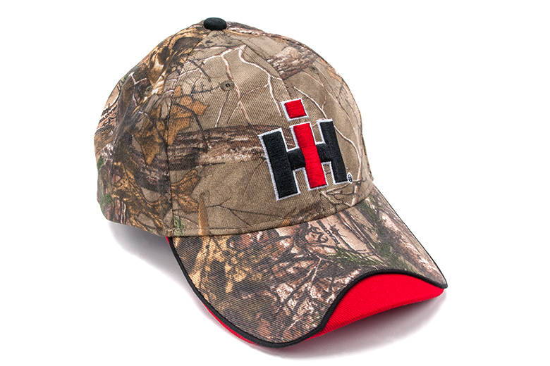 No Longer available. Camo Hat with IH Logo and Red on Edge