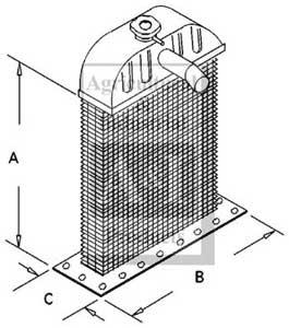 Radiator Core - Cub, Cub Lo-Boy