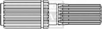 ZF-4WD Sun Gear Shaft