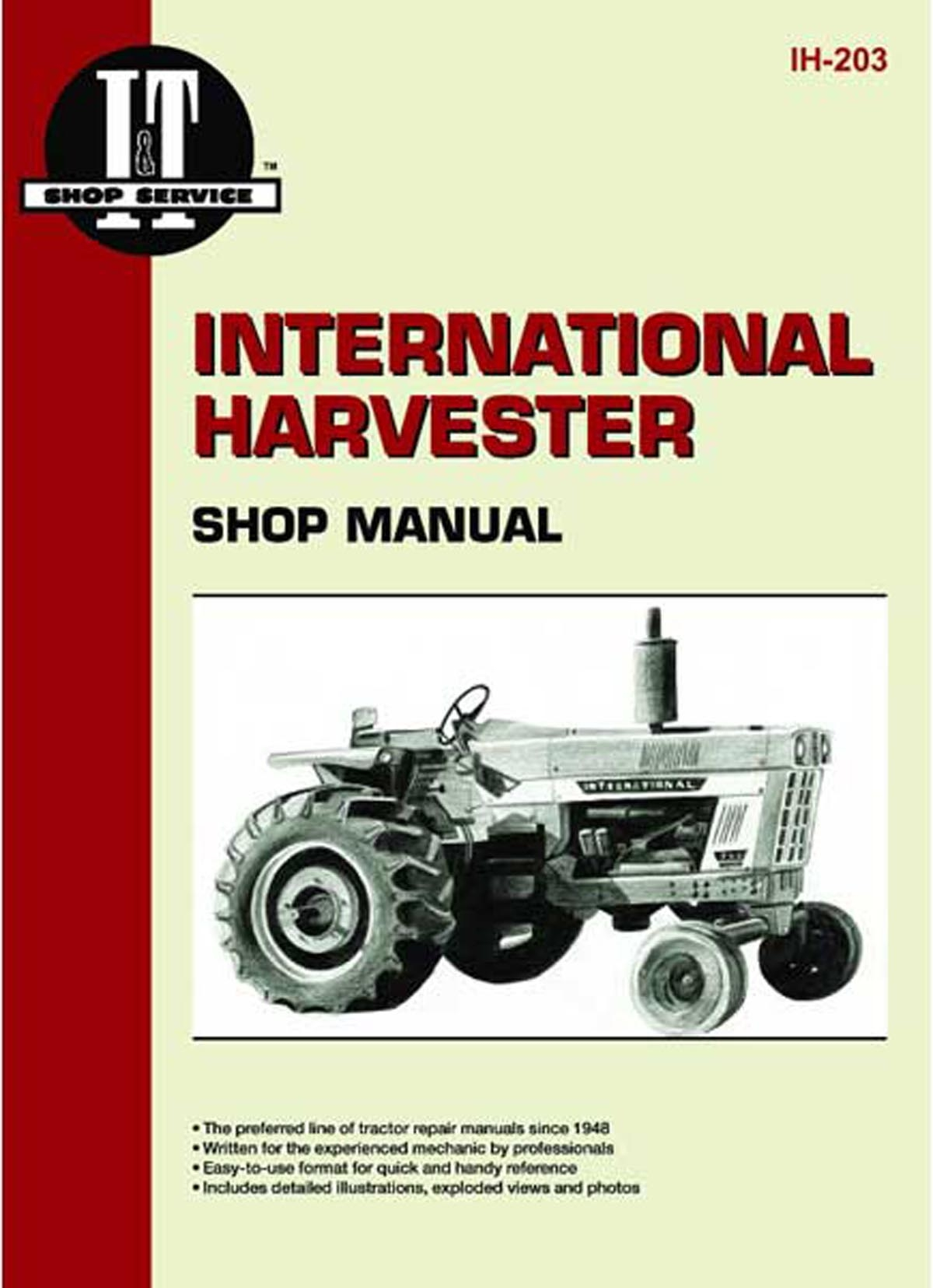 I T Shop Service Manual Case Ih Parts Tractor 460 Wiring Diagram