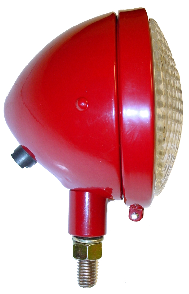 COMPLETE HEADLIGHT ASSEMBLY, RED, 6V