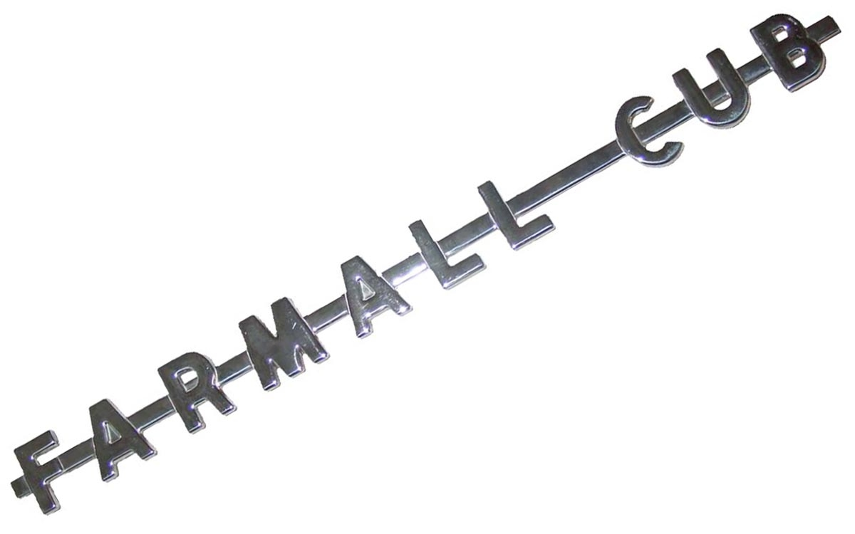 farmall cub side emblem - case ih parts