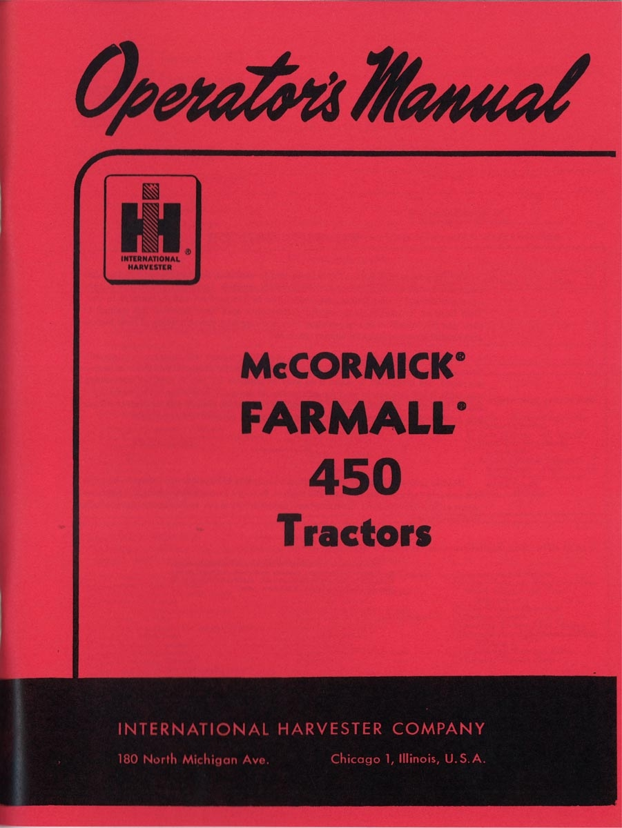 INTERNATIONAL HARVESTER TRACTOR DATA BOOK BY GUY FAY - Case IH Parts - Case IH  Tractor Parts