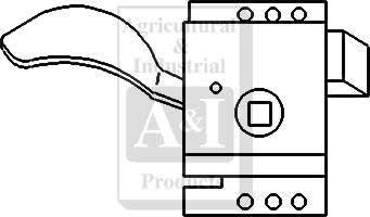 Slam Latch, Cab Door Interior (RH)