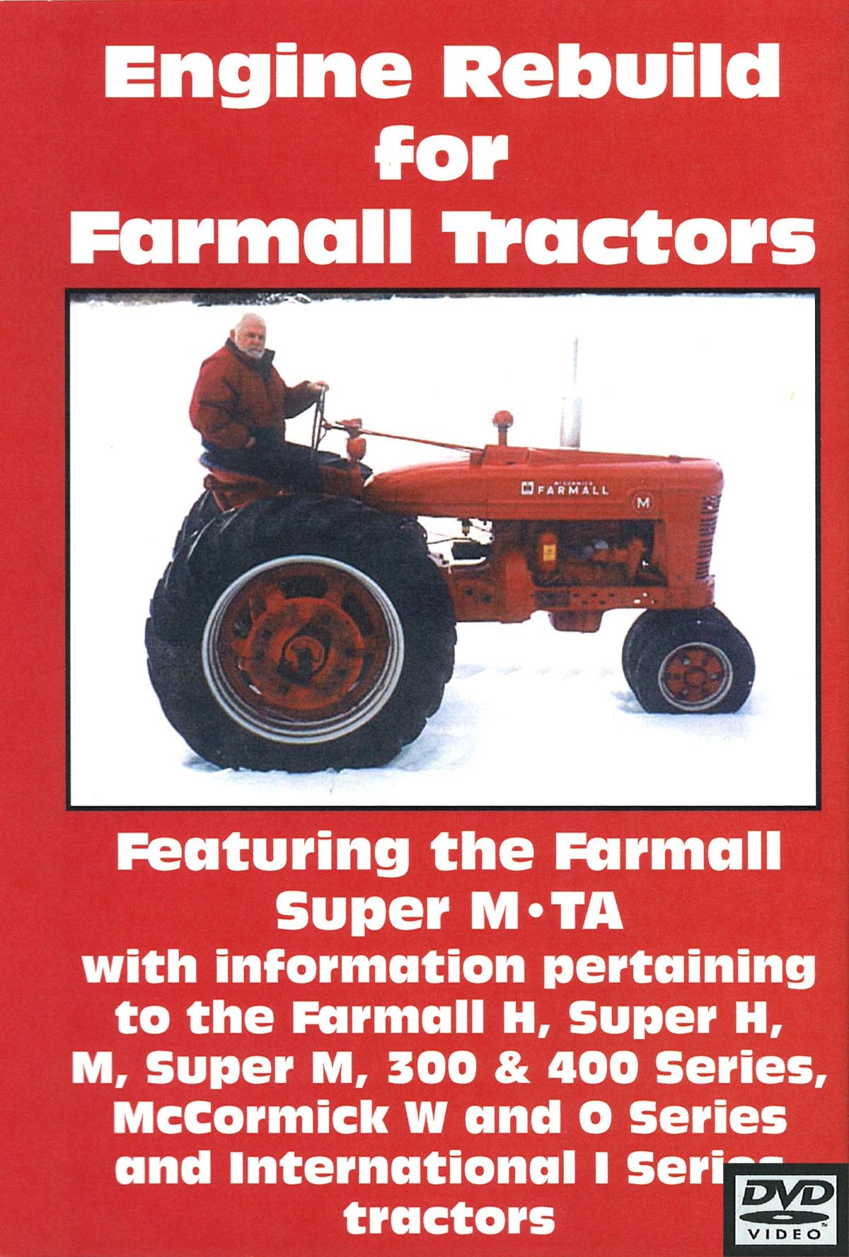FARMALL M, H, 300, 400 ENGINE REBUILD VIDEO (DVD)