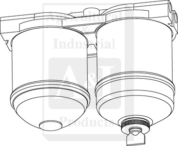 Fuel Filter Assy (Double CAV) 1/2 UNF Ports