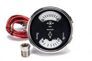 Oil & Water Temperature Gauge Cluster Assembly For: Diesel-766, 966, 1066, Hydro-100, 1466, 1468, 1566, 1568, 4366, 4386, 4568, 4586, Replaces IH# 534057r2, 1546481c1.