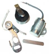 IGNITION TUNE UP KIT WITH ROTOR  TRACTORS USING DELCO-REMY DISTRUBUTORS WITH CLIP HELD CAP THRU 1963  INCLUDES HEAVY DUTY POINT SET, VIBRATION RESISTANT CONDENSOR, GAP GAUGE & ROTOR  International Applications: A, SUPER A, AV, SUPER AV, B, BN, C, SUPER C, H, HV, SUPER HV, M, MV, SUPER MV, MTA SERIES WITH DELCO VERTICAL CONVERSIN DISTRIBUTOR #1111411  Replacement Part #: POINT SET 1944374, CONDENSER 1869704