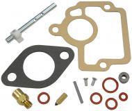 BASIC CARBURETOR REPAIR KIT   KIT CONTAINS: THROTTLE SHAFT, NEEDLE & SEAT, FLOAT LEVER PIN, CHOKE & THROTTLE SHAFT SEALS, NEEDLE VALVE, ADJUSTMENT SCREW, GASKETS & INSTRUCTIONS.   Carburetor Manufacturer #: 50981DA, 50981DB, 50981DC   International Applications: H, HV, 4 SERIES