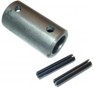ECONOMY CHAR-LYNN STEERING COUPLER (FOR TRACTORS WITH U-JOINT)  USE ONLY IF YOU HAVE A UNIVERSAL JOINT AT ONE END OF EXISTING STEERING SHAFT  International Applications: IH MODELS