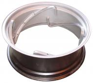 11 X 28 REAR RIM (SPINOUT)  4 RAILS  HOLES FOR STOP ADJUSTMENT ARE DRILLED 90 DEGREE PERPENDICULAR TO SIDE OF RIM NOT 90 DEGREES TO RAIL  USA MADE  STOP HOLES ARE ANGLED  International Applications: IH MODELS 300 & UP