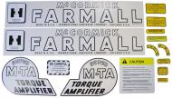 MYLAR DECAL SET  SPECIAL ORDER ONLY. ALLOW ONE ADDITIONAL WEEK FOR DELIVERY CAUTION: INSPECT ALL DECAL PIECES BEFORE APPLYING TO TRACTOR. NO REFUNDS ON MYLAR DECALS IF APPLIED TO SURFACE AND / OR IF DAMAGED. NO REFUNDS ON VINYL CUT DECALS. STORE IN A COOL, DRY PLACE. D  International Applications: IH (1945 - 52) SUPER MTA GAS