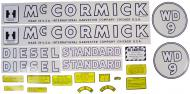 MYLAR DECAL SET  SPECIAL ORDER ONLY. ALLOW ONE ADDITIONAL WEEK FOR DELIVERY CAUTION: INSPECT ALL DECAL PIECES BEFORE APPLYING TO TRACTOR. NO REFUNDS ON MYLAR DECALS IF APPLIED TO SURFACE AND / OR IF DAMAGED. NO REFUNDS ON VINYL CUT DECALS. STORE IN A COOL, DRY PLACE. D  International Applications: IH WD9 (1945-1952)