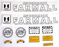 MYLAR DECAL SET  SPECIAL ORDER ONLY. ALLOW ONE ADDITIONAL WEEK FOR DELIVERY CAUTION: INSPECT ALL DECAL PIECES BEFORE APPLYING TO TRACTOR. NO REFUNDS ON MYLAR DECALS IF APPLIED TO SURFACE AND / OR IF DAMAGED. NO REFUNDS ON VINYL CUT DECALS. STORE IN A COOL, DRY PLACE. D  International Applications: IH AV CULTI- VISION (1945-1952)
