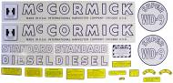 MYLAR DECAL SET  SPECIAL ORDER ONLY. ALLOW ONE ADDITIONAL WEEK FOR DELIVERY CAUTION: INSPECT ALL DECAL PIECES BEFORE APPLYING TO TRACTOR. NO REFUNDS ON MYLAR DECALS IF APPLIED TO SURFACE AND / OR IF DAMAGED. NO REFUNDS ON VINYL CUT DECALS. STORE IN A COOL, DRY PLACE. D  International Applications: IH SUPER WD9 (1945-1952)