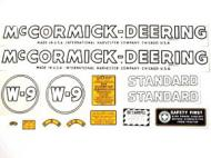 MYLAR DECAL SET  SPECIAL ORDER ONLY. ALLOW ONE ADDITIONAL WEEK FOR DELIVERY CAUTION: INSPECT ALL DECAL PIECES BEFORE APPLYING TO TRACTOR. NO REFUNDS ON MYLAR DECALS IF APPLIED TO SURFACE AND / OR IF DAMAGED. NO REFUNDS ON VINYL CUT DECALS. STORE IN A COOL, DRY PLACE. D  International Applications: MCCORMICK DEERING W9 (1939-1944)