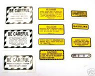 MYLAR MISC DECAL SET -- 11 PIECES 
