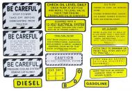 MYLAR MISC DECAL SET -- 15 PIECES  SPECIAL ORDER ONLY. ALLOW ONE ADDITIONAL WEEK FOR DELIVERY CAUTION: INSPECT ALL DECAL PIECES BEFORE APPLYING TO TRACTOR. NO REFUNDS ON MYLAR DECALS IF APPLIED TO SURFACE AND / OR IF DAMAGED. NO REFUNDS ON VINYL CUT DECALS. STORE IN A COOL, DRY PLACE. D  International Applications: IH/FARMALL 400, 450 DSL