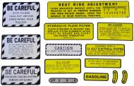 MYLAR MISC DECAL SET -- 13 PIECES 
