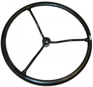 """STEERING WHEEL   17-5/8"""" DIAMETER, KEYED & STRAIGHT HUB, 3/4"""" SHAFT, 3 SPOKES   LIKE ORIGINAL, ALL NEW MATERIAL, STEEL SPOKES   International Applications: LATE SUPER A, C, SUPER C, H, HV, SUPER H, M, MV, SUPER M, MD, SUPER MD, MDV, MTA, W4, I4, O4, W6, WD6, SUPER WD6, I6, ID6, O6, W9, SUPER W4, SUPER W6, 100, 130, 200, 230; WILL ALSO FIT 300 ROWCROP, 350 ROWCROP, 400, 450 W/OUT POWER STEERING   Replacement Part #: 60070D"""