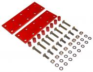 """FENDER EXTENSION KIT  0.533"""" I.D., 0.840"""" O.D., 1.12"""" LONG  KIT INCLUDES: 8 BUSHINGS, 8 LONG BOLTS, 8 SHORT BOLTS, 16 WASHERS & 8 NUTS AND 2 MOUNTING PLATES  THIS KIT WILL TAKE CARE OF ONE TRACTOR 2 FENDERS  International Applications: H, SUPER H, 300, 350, M, MD, SUPER M, SUPER MD, MTA, 400, 450, 340, 404, 460, 504, 560"""
