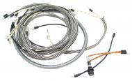 WIRING HARNESS  CLOTH COVERED LIKE ORIGINAL INCLUDES WIRING INSTRUCTIONS & LIGHT WIRES  USA MADE  International Applications: SUPER H, SUPER HV (SN 19234 & UP), WITH BATTERY UNDER SEAT