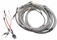 WIRING HARNESS  CLOTH COVERED LIKE ORIGINAL INCLUDES WIRING INSTRUCTIONS & LIGHT WIRES  USA MADE  International Applications: M IF CONVERTED TO REGULATOR ON GENERATOR